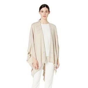 Calvin Klein Knit Shadow Stripe Wrap Shawl One Sz
